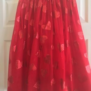 b05cd5cade Cat & Jack Bottoms   Childrens Red Tulle Maxi Skirt With Hearts ...